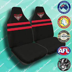 New Essendon Bombers Front Car Seat Covers Official Afl Airbag Compatible