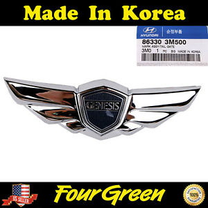 Tailgate Trunk Wing Emblem For Hyundai Genesis 2009 2014 Oem New 863303m500