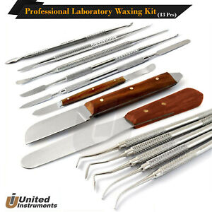 Set 12 Dental Waxing Lab Instruments P k Thomas Waxing Modelling Carver Spatulas