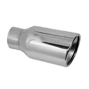 Jones Exhaust Jst040 Chrome Stainless Steel Double Wall Oval Exhaust Tip