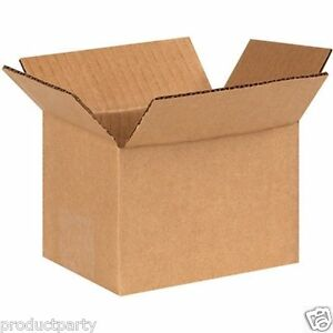 Lot Of 25 Small Cardboard Boxes For Shipping 4x4x6 New Generic Shipping Boxes