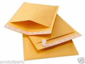 250 Generic Small Kraft Bubble Mailers Padded Envelopes Mail 4x8 8x4 000 Bulk