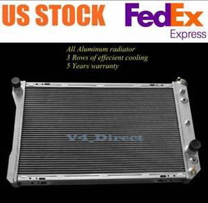 3 Row Aluminum Radiator For 1982 1992 Chevy Camaro pontiac Firebird Trans Am V8