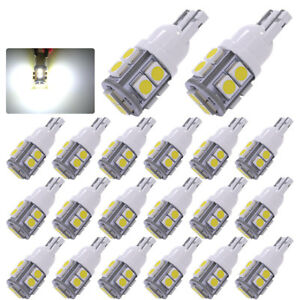 20x T10 10 Smd Xenon White Led Interior Dome Map License Light Bulbs W5w 158 192