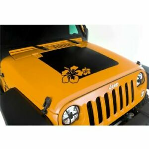 Rugged Ridge 12300 14 Vinyl Hibiscus Hood Decal For Jeep Wrangler Jk