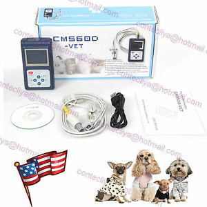 Contec New Veterinary Cms60d Hand held Pulse Oximeter With Vet Probe software us