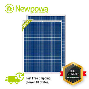 Newpowa High Quality 2pcs 100w 12v Poly Solar Panel 200 Watts Module Rv W 3ft M