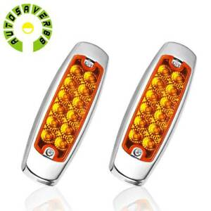 2pack License Plate Tag Lights White 6 Led For Boat Trailer Tail Light Truck