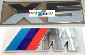 New Genuine Bmw M Power 3 X 9 0cm X5 3 X 9 5cm Tailgate Trunk Logo Emblem