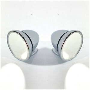 Pair Chrome Bullet Style Side Mirrors Gt Racing Universal