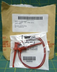 Itt Pomona Pn 3781 18 2 Red Minigrabber Patch Cord New 30vac 60dc