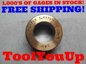 1 4375 Class Xx Master Plain Smooth Bore Ring Gage 1 7 16 Machine Shop Toolmaker