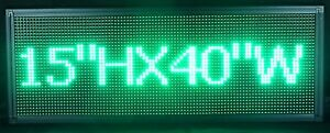 Green Color 15 X 40 Storefront Led Message Board