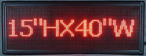 Programmable Led Message Board red