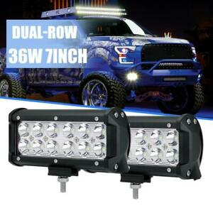 2x 6 Inch 36w Cree Led Work Light Bar Spot Flood Offroad For Jeep Pickup Fog 7