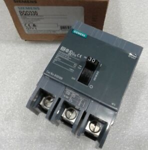 Bqd330 Siemens Circuit Breaker 3 Pole 30 Amp 480v New In Box