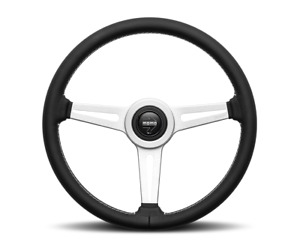 Momo Steering Wheel Retro Black Leather 360mm Hub Adapter