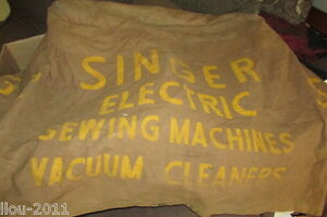 Vintage Union Canvas Singer 4 Sewing Machine Brown Canvas Cover 20x24x26
