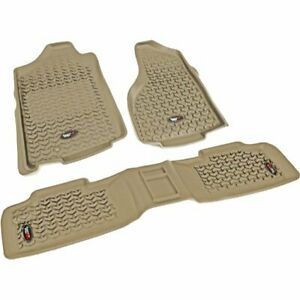 Rugged Ridge Floor Mats Front New Tan Jeep Wrangler 2007 2018 13987 01