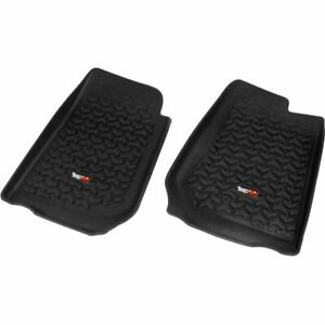 Rugged Ridge Floor Mats Front New Black Jeep Wrangler 2007 2013 12920 02