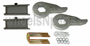 Lift Kit Chevy Torsion Keys 3 Fabricated Steel Blocks 88 98 6 Lug 4x4 Truck Suv
