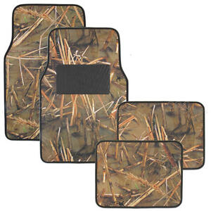 Swamp Camouflage Floor Mats Water Resistant 4 Piece Front And Rear Set