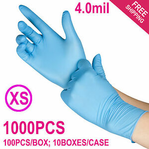 1000 case Disposable Powder free Nitrile Medical Exam latex Free Gloves xs