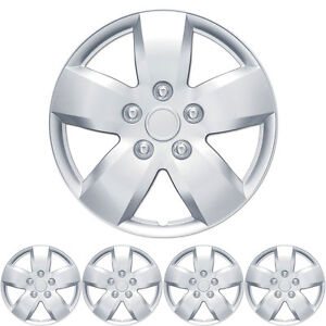 4 Piece Hub Caps 16 Inch Full Lug Rim Covers Oem Replacement Snap On Fit