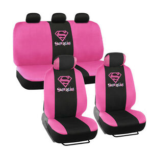 Supergirl Seat Covers For Car Suv Full Set Front Rear Auto Accessories