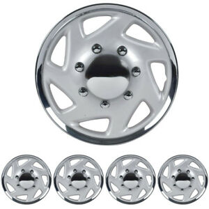 Wheel Cover Fit Ford E 250 E 350 F 250 F 350 Hubcaps 4pc Chrome 16 Durable Abs