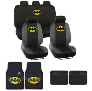 Batman Seat Cover And Floor Mats Full Gift Set Official Wb Products
