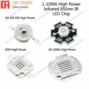 Infrared 850nm Ir 1w 3w 5w 10w 20w 30w 50w 100w High Power Led Smd Chip Light