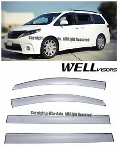 For 11 20 Toyota Sienna Wellvisors Side Window Visors Premium Series Rain Guard