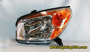 Tyc Left Side Halogen Headlight Lamp Assembly For Toyota Rav4 2004 2005
