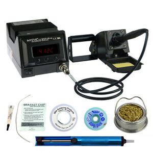 Aoyue 937 Pro Kit Includes 45 Watt Soldering Station Solder Wire Flux And Mu