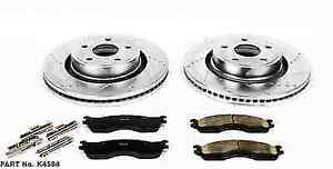 Power Stop K4584 Front Z23 Evolution 1 click Brake Kit For 2004 Ram 1500 Srt 10