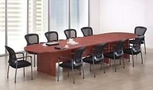 New Amber 12 Racetrack Conference boardroom meeting Room Office Table