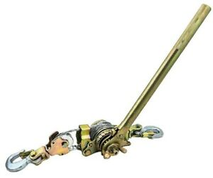 4400lb 2 Ton Hoist Ratchet Hand Lever Puller Come Along Double Hooks Cable Hd