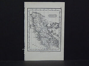 Miniature Map C 1850 19 Greece