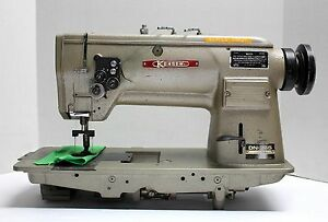 Kensew Dn 265 Needle Feed 2 needle 1 3 8 Gauge Reverse Sewing Machine Head Only