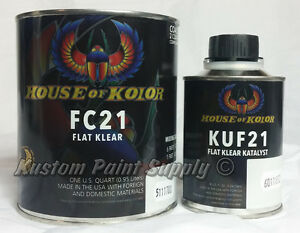Flat Clear Fc21 Quart Kit House Of Kolor Fc21