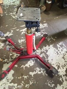 2 Stage Hydraulic Transmission Jack Lift Hoist W Wheels 500 Lb