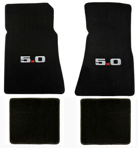 Lloyd Mats 1979 1993 Ford Mustang 5 0 Heavy Plush 4 Pc Floor Mat Set With Logo