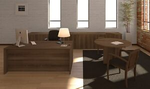 New Amber Executive Office Desk W storage And 47 Round Conference meeting Table