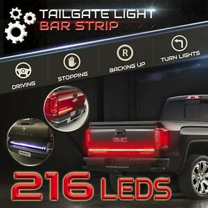 60 Led Tailgate Light Strip Bar Waterproof Picku Red White Signal Running Brake