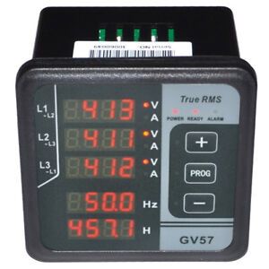 Gv57 3 phase Generator Digital Multifunctional Meter Amp Volt Frequency Tester