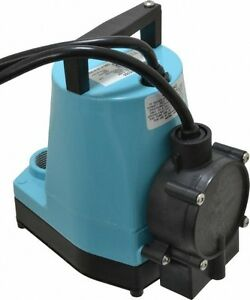 Little Giant 505300 1 6 Hp 1200 Gph Submersible Utility Pump W float Switch