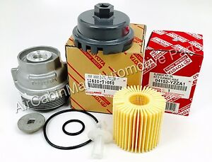 New Genuine Toyota Oil Filter Housing Cap 15620 31060 With Cap Plug And Wrench