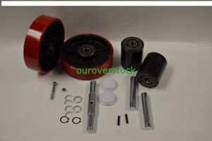 Clark Cgh23 25 Pallet Jack Complete Wheel Kit includes All Parts Shown