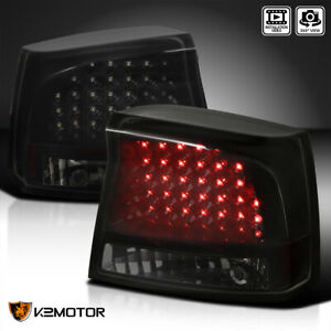 For Black Smoke 2006 2008 Dodge Charger Led Tail Lights Brake Lamps Left Right